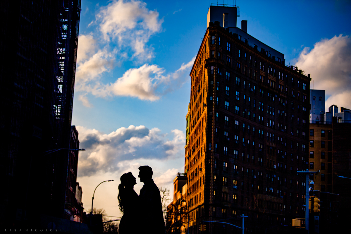 Couple at Grand Army Plaza in Brooklyn - Brooklyn Wedding Photographer