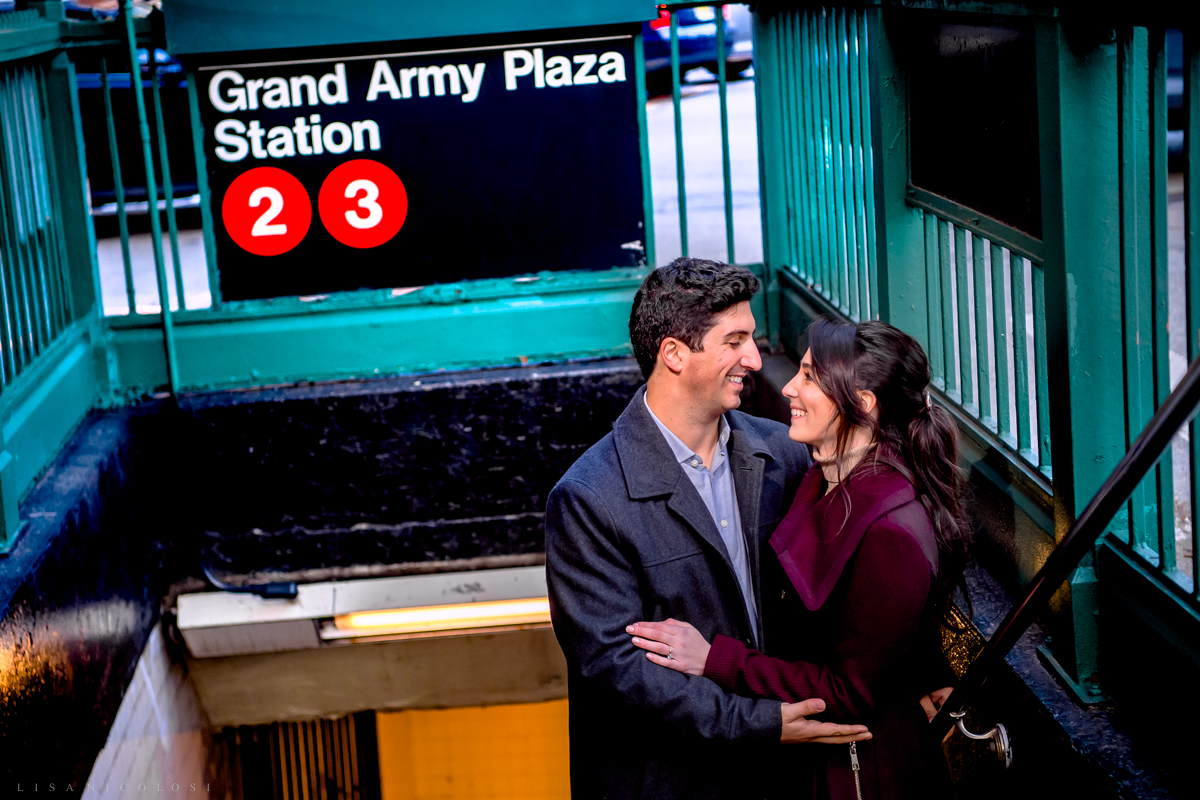 Couple at Grand Army Plaza Subway Station