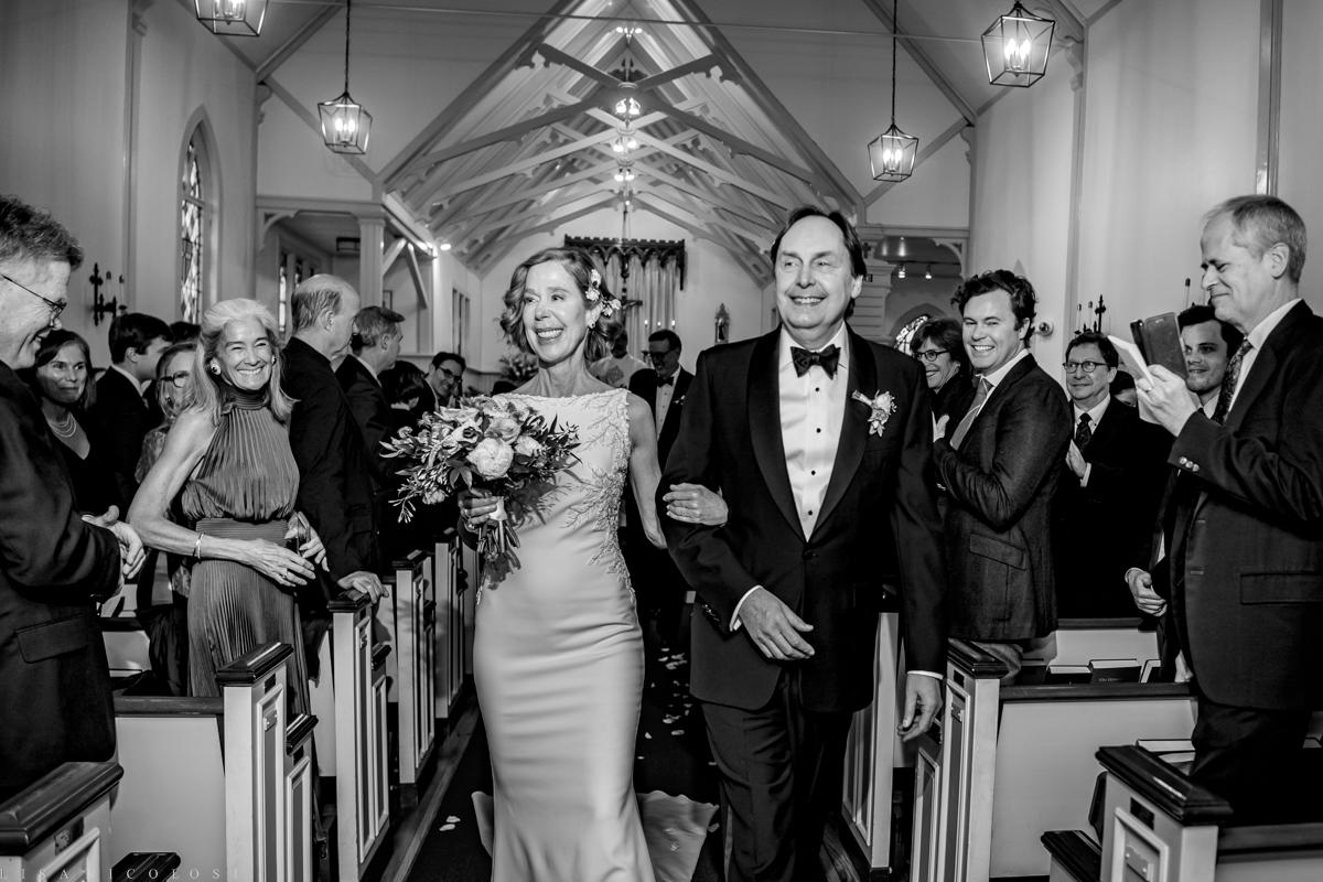 North Fork Wedding at Holy Trinity Episcopal Church - Bride and groom wedding recessional