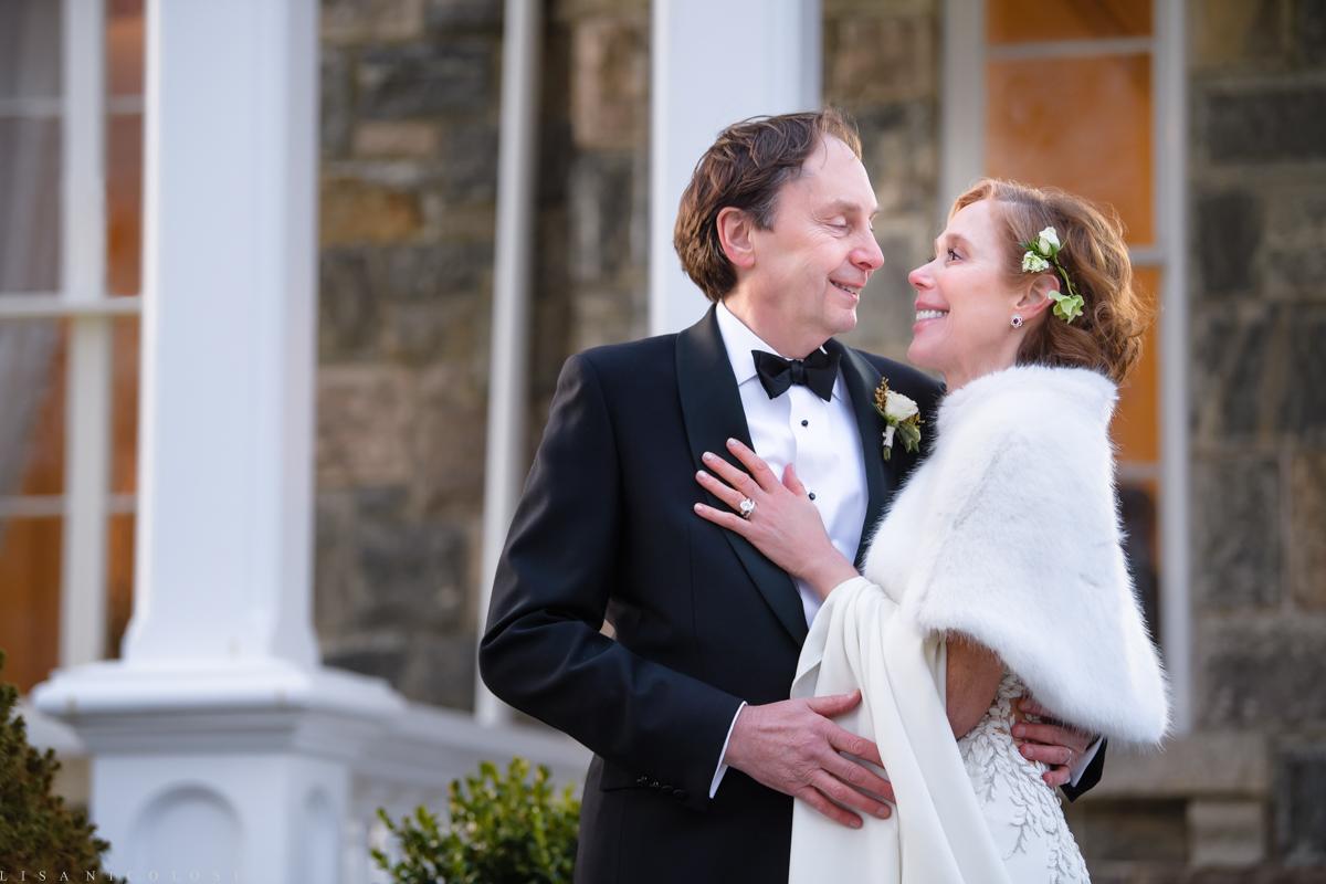 Brecknock Hall wedding - Bride and groom romantic portraits