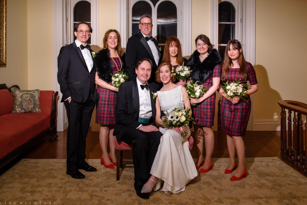 Brecknock Hall wedding - wedding party