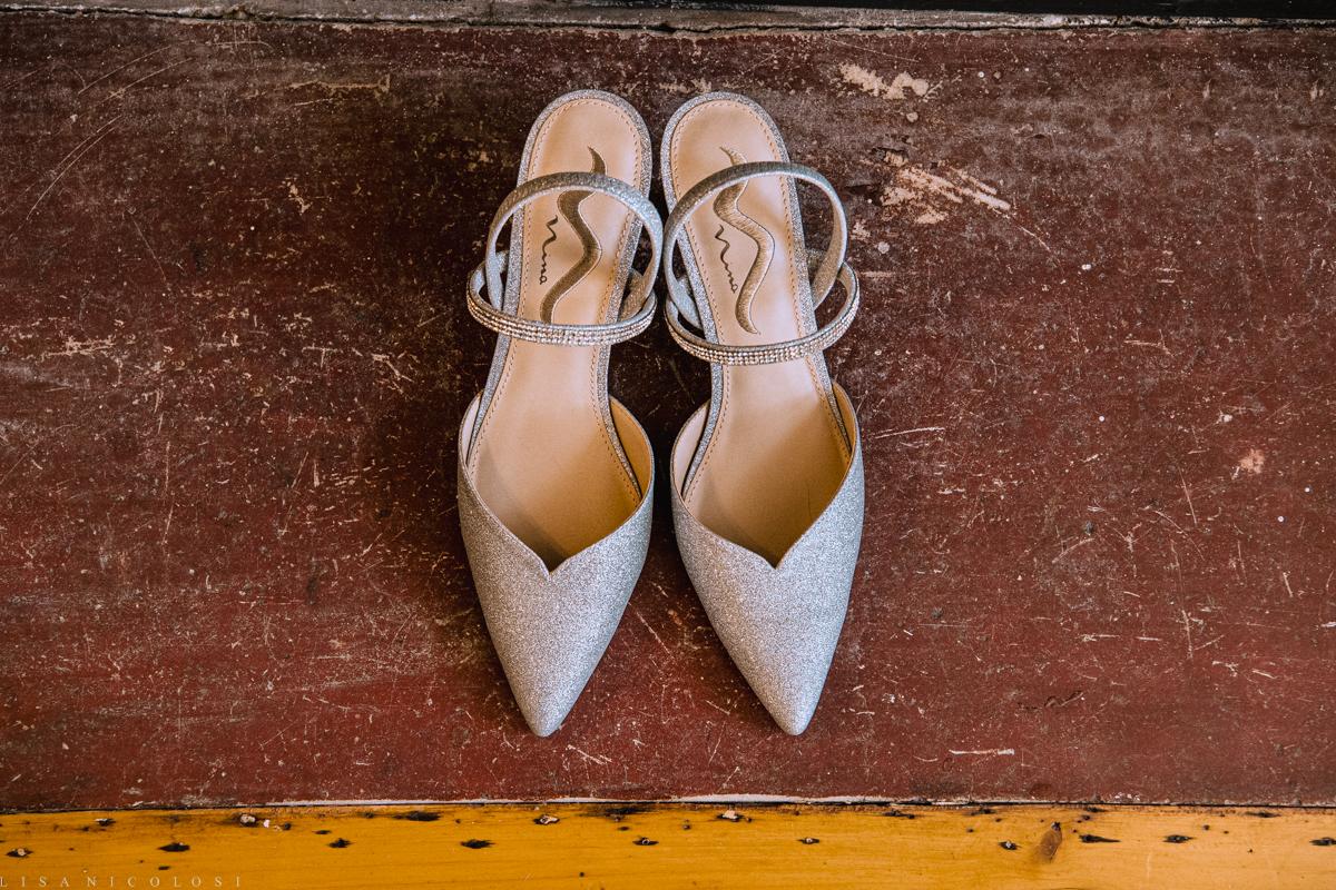 Brecknock Hall Wedding -Bride's shoes