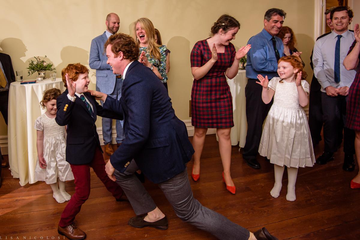 Wedding reception - guests dancing