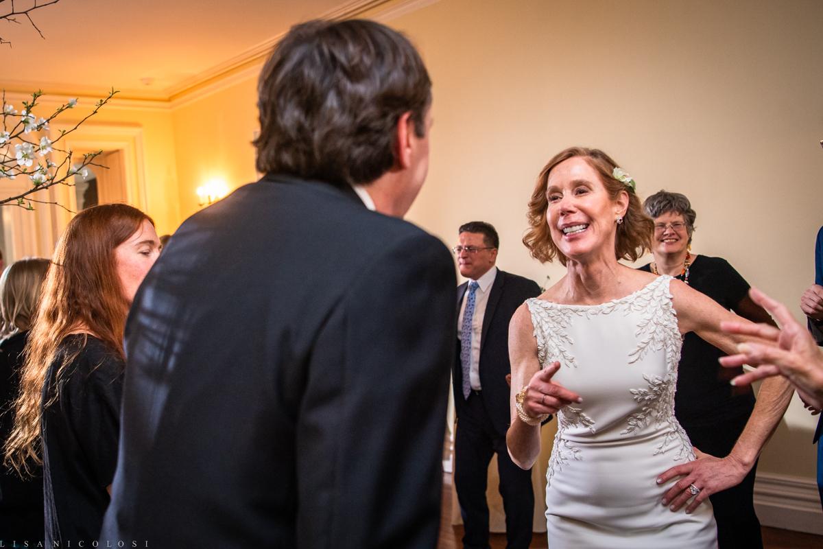 Wedding reception - bride and groom dancing