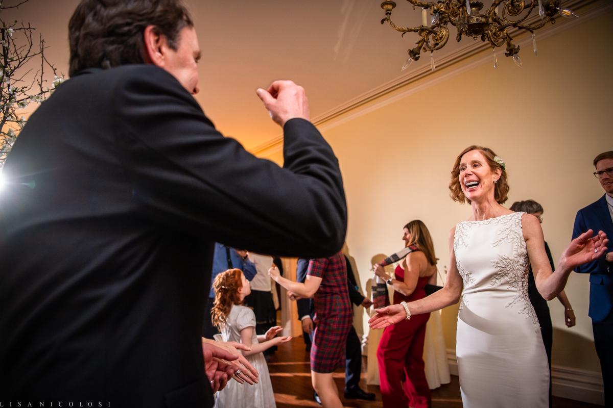 Brecknock Hall wedding - Wedding reception - bride and groom dancing