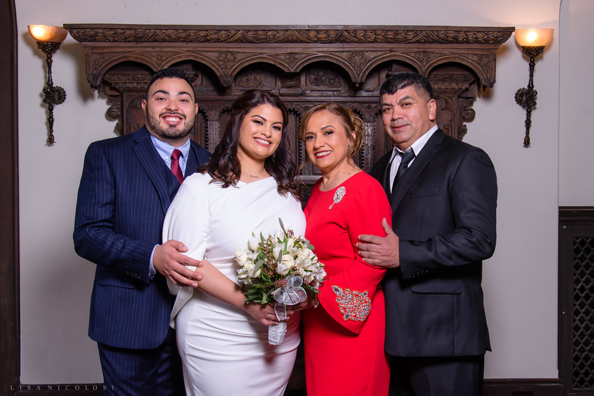 Islip Town Hall Intimate Wedding - Family Formals