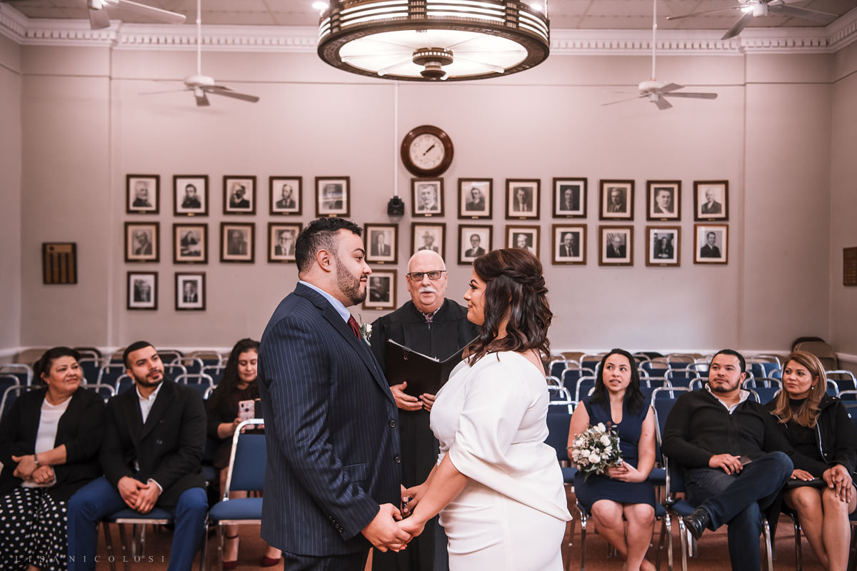 Islip Town Hall Intimate Wedding Ceremony in Courtroom