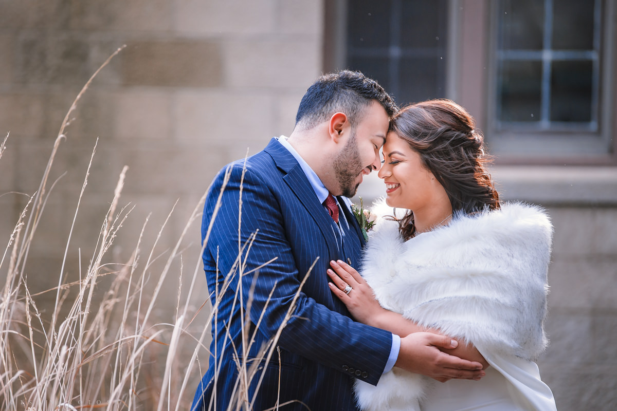 Romantic Bride and Groom Photos at Scully Mansion