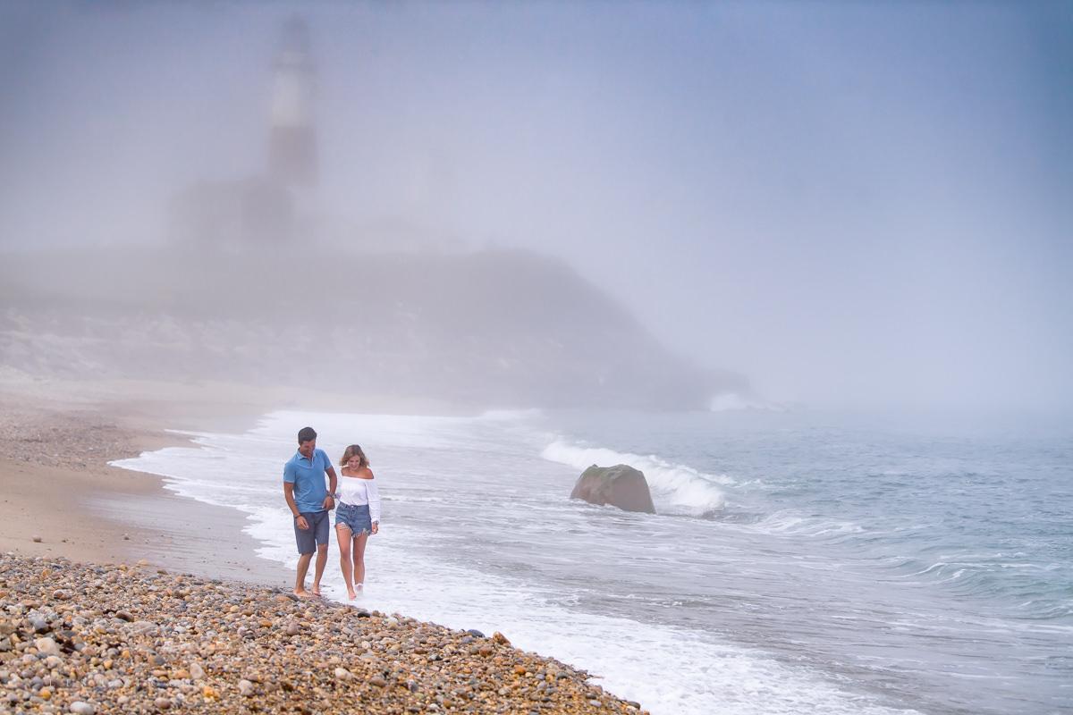 Montauk Lighthouse engagement photographer