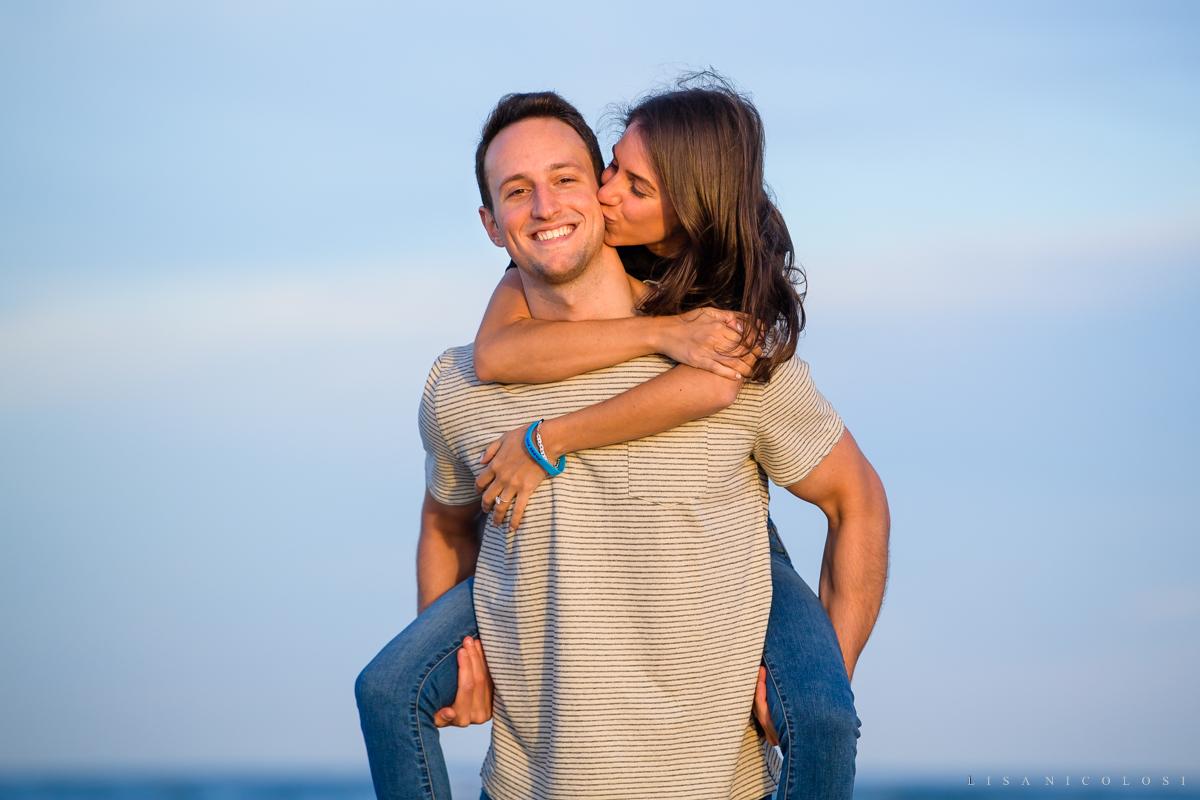 Fun Engagement Photos at Atlantic Beach NY - Long Island Proposal Photographer