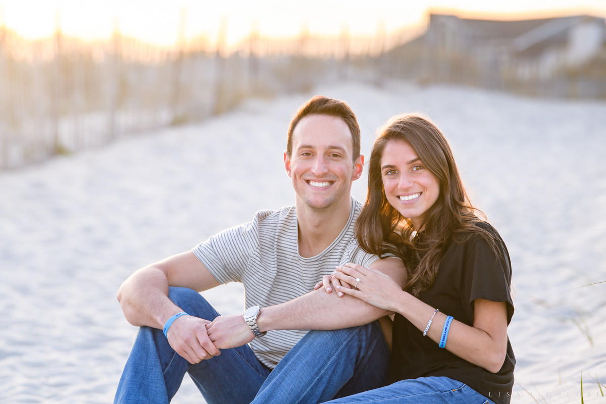 Romantic Engagement Photos at Atlantic Beach NY - Long Island Proposal Photographer