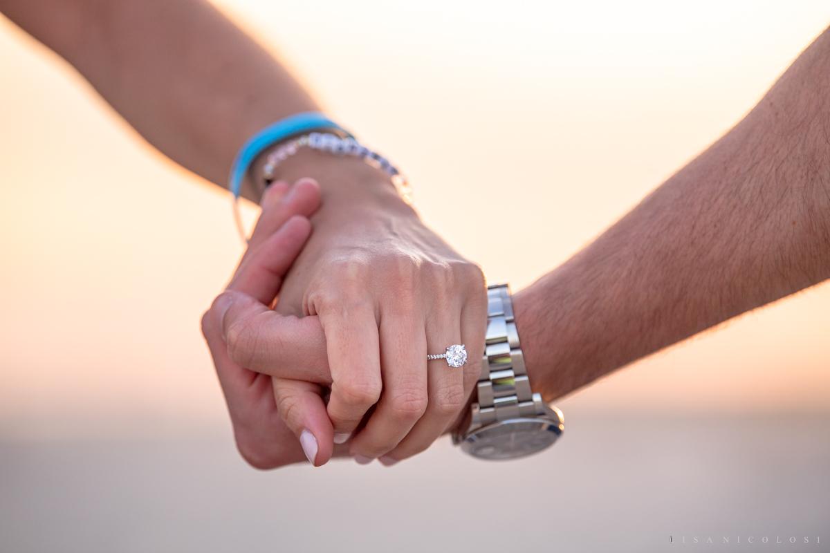 Engagement ring closeup - Long Island Proposal Photographer