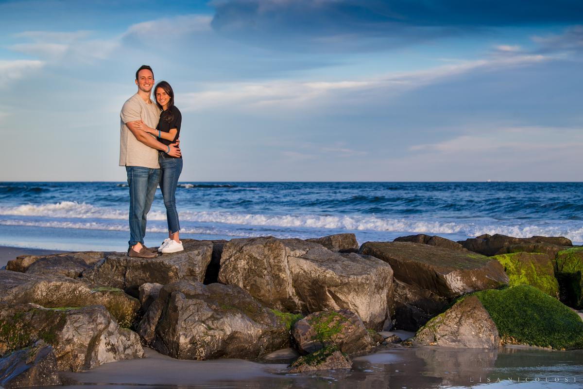 Engagement Photos at Atlantic Beach NY - Long Island Proposal Photographer