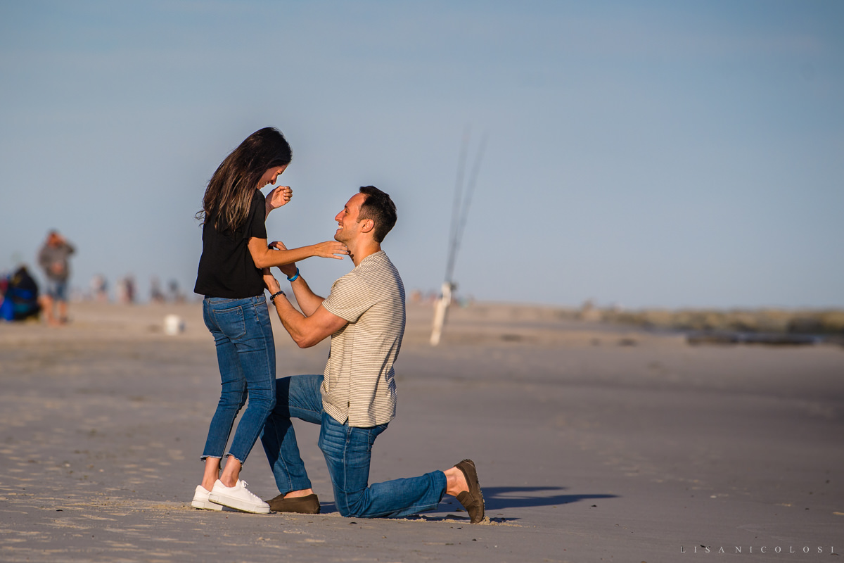 Surprise marriage proposal photos at Atlantic Beach NY - Long Island Proposal Photographer