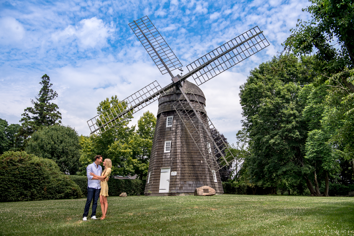 Romantic engagement photos in the Hamptons