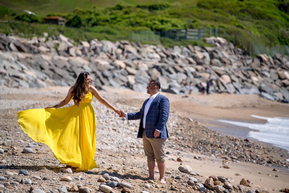Romantic and Fun Montauk Engagement Session