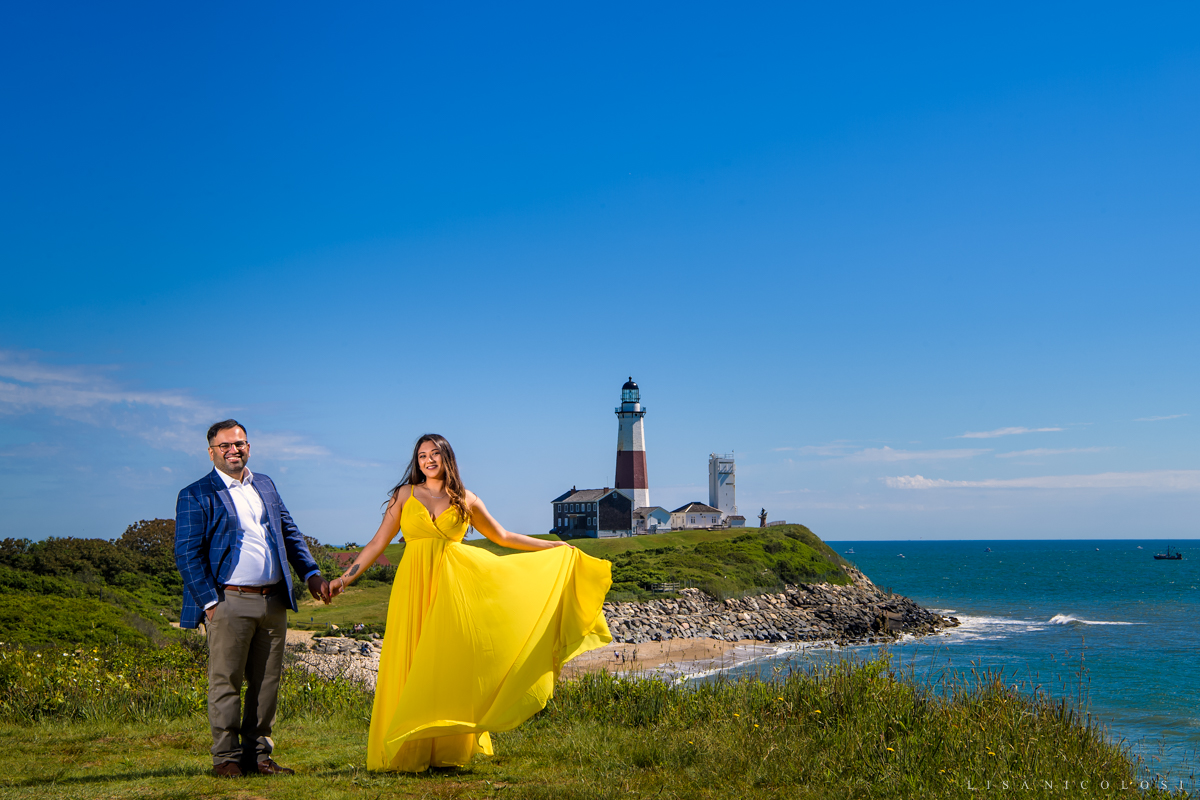 Camp Hero State Park Engagement Session - Montauk Proposal Photographer