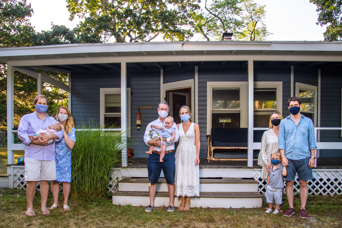 Intimate North Fork Wedding in Jamesport - Wedding during Covid 19 Pandemic- guests wearing masks