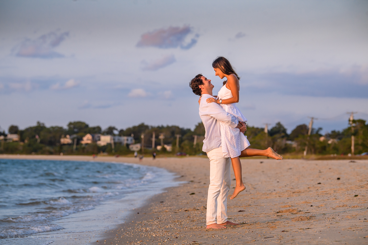 Sag Harbor Proposal and Engagement at Foster Memorial Beach