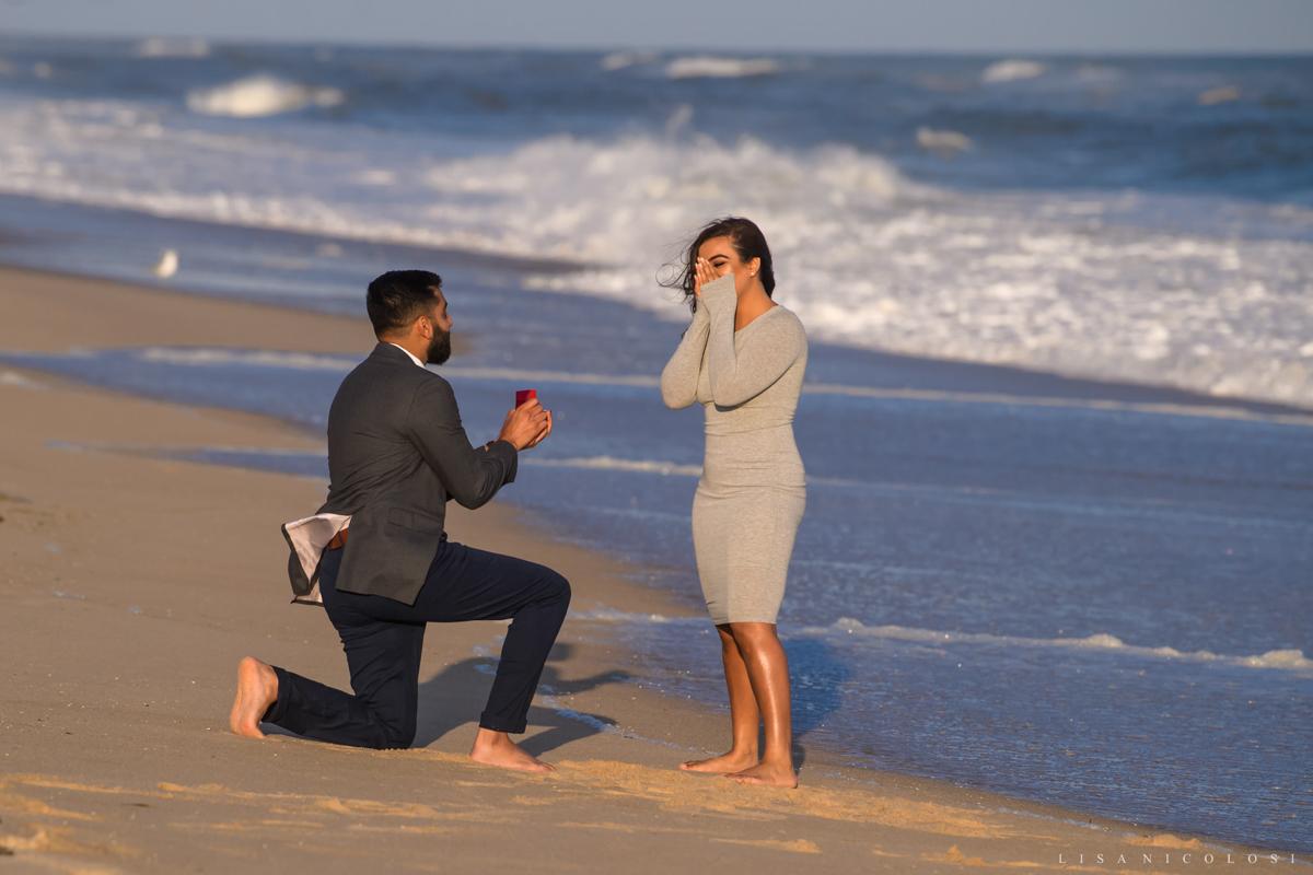 Surprise Montauk Marriage Proposal at Gurney's Resort - Beach Engagement