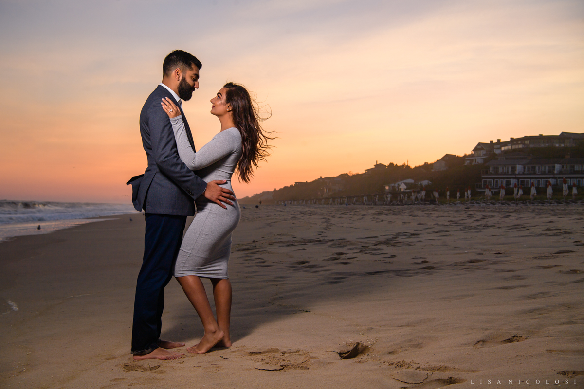Sunset Montauk Engagement Session