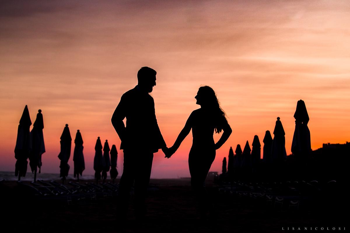 Engagement Silhouette at Gurney's Montauk